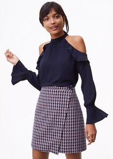 LOFT Cold Shoulder Ruffle Blouse