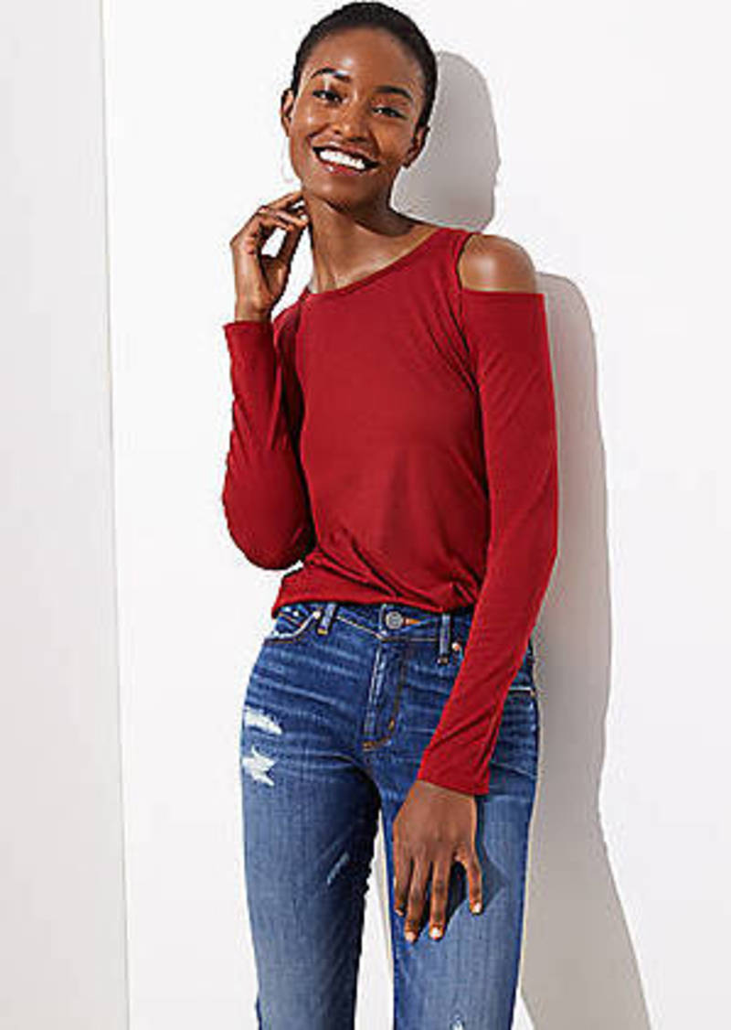 LOFT Cold Shoulder Tee