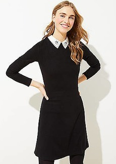 LOFT Collared Ponte Flare Dress