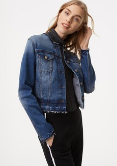 Collarless Denim Jacket