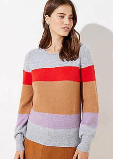 LOFT Colorblock Draped Sleeve Sweater