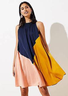 LOFT Colorblock Halter Swing Dress