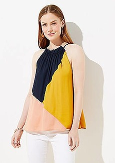 LOFT Colorblock Halter Top