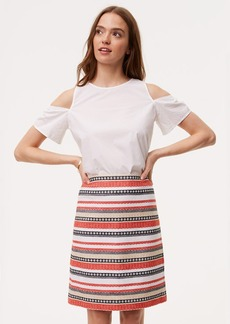 Costa Jacquard Shift Skirt