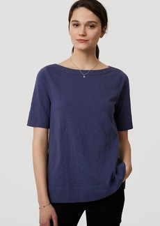 Cotton Boatneck Tee