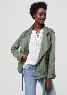 Cotton Sateen Cargo Jacket