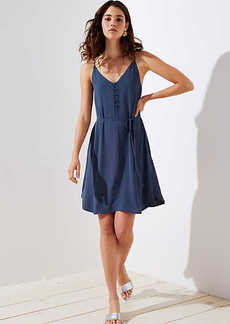LOFT Covered Button Strappy Cami Dress