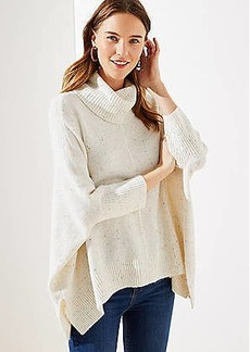 LOFT Cowl Neck Poncho Sweater