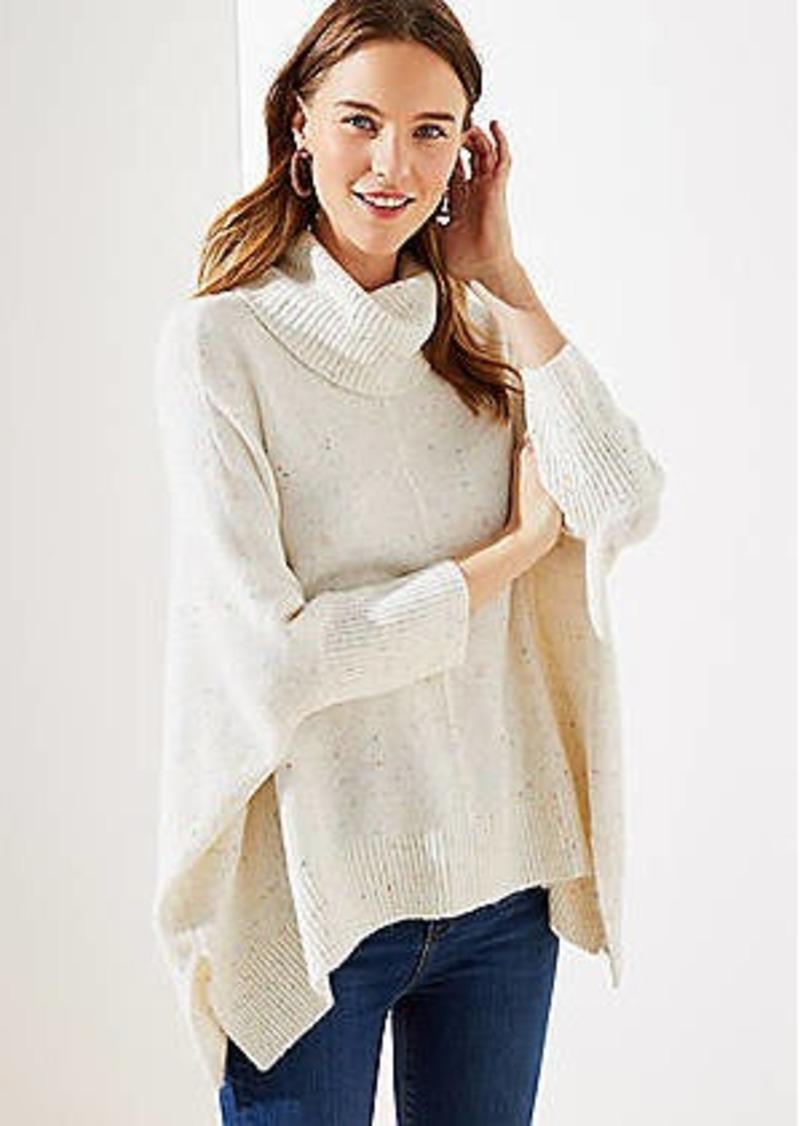 LOFT Cowl Neck Poncho Sweater