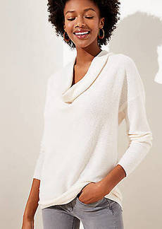 LOFT Cowl Neck Tunic Sweater