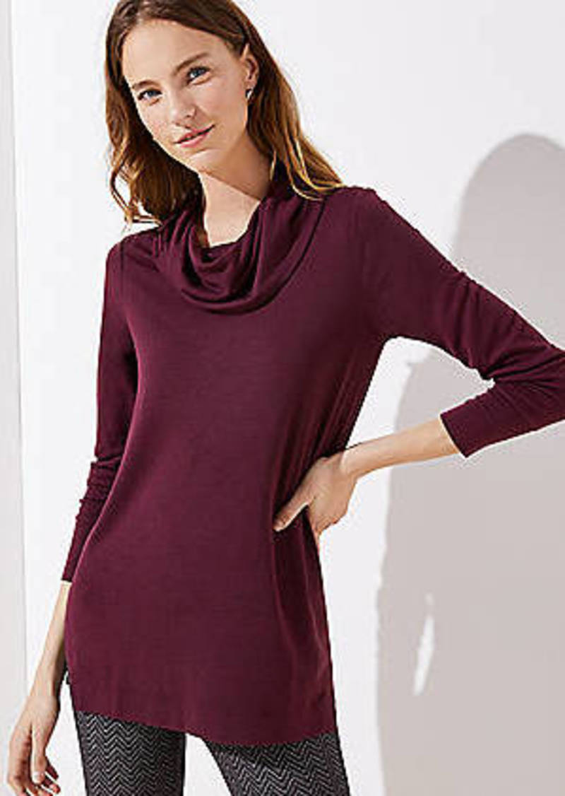 LOFT Cowl Neck Tunic Top