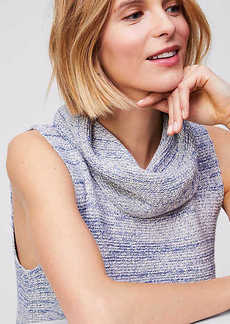 LOFT Cowl Sleeveless Tunic Sweater