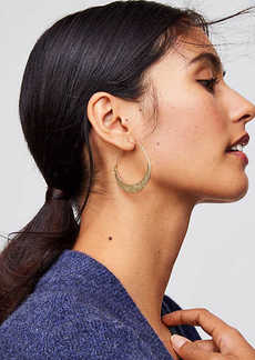 LOFT Crescent Moon Hoop Earrings