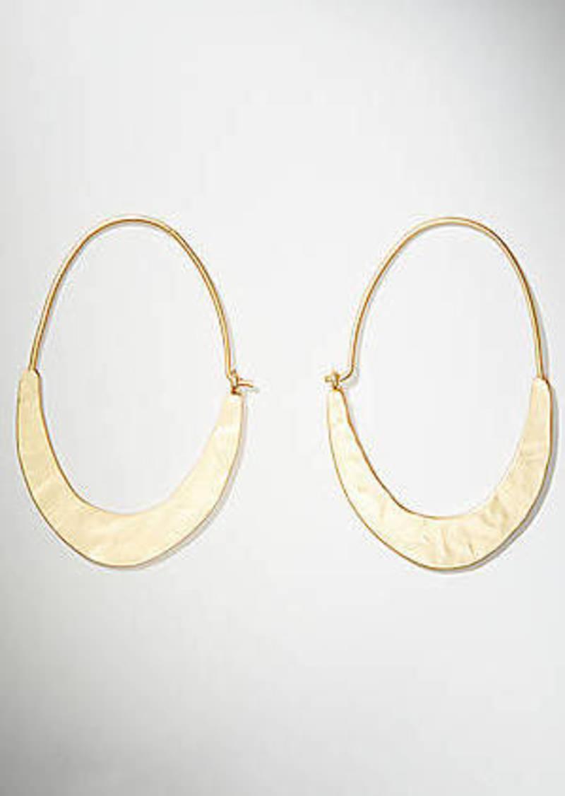 LOFT Crescent Moon Oval Earrings
