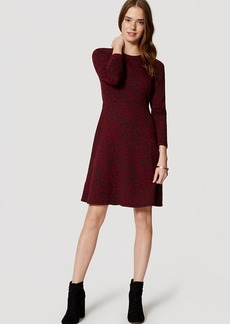 Crimson Floral Jacquard Dress