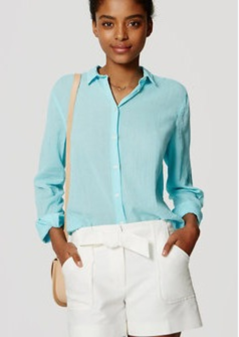 LOFT Crinkle Softened Shirt