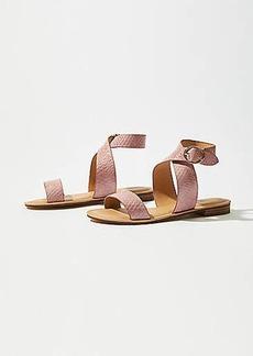 LOFT Criss Cross Ankle Strap Sandal