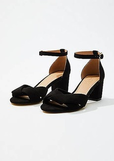 LOFT Criss Cross Ankle Strap Sandals