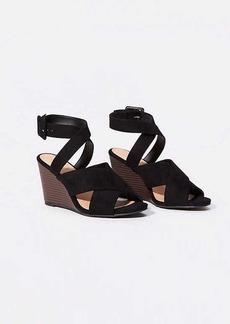LOFT Criss Cross Ankle Strap Wedge Sandals