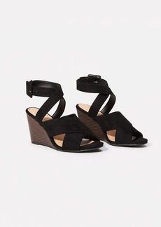 LOFT Criss Cross Ankle Strap Wedge Sandals