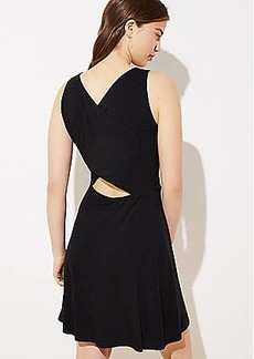 LOFT Cutout Back Knit Flare Dress