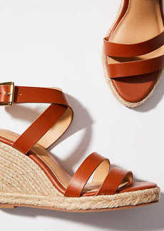 Criss Cross Espadrille Wedge Sandals