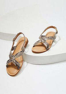 LOFT Criss Cross Slingback Sandals
