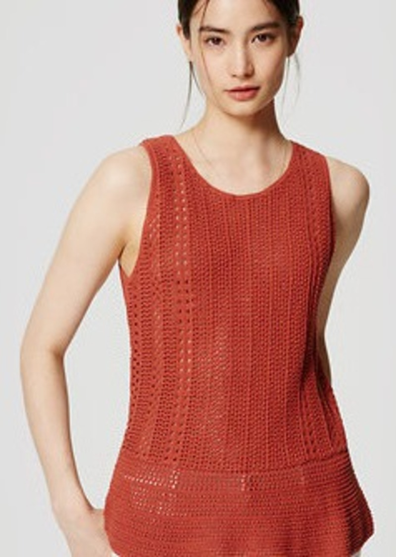 LOFT Crochet Tank