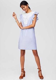 LOFT Crocheted Lace Flutter Dress
