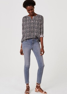 Crop Denim Leggings in Pure Light Indigo Wash