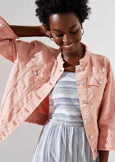 LOFT Cropped Denim Jacket