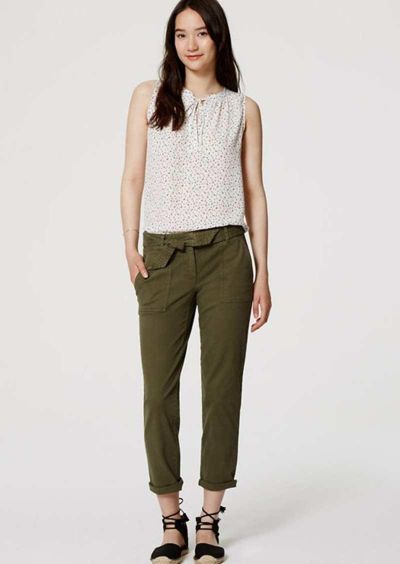 LOFT Cropped Tie Waist Chinos in Marisa Fit
