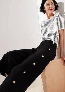 LOFT Cropped Wide Leg Sailor Pants