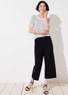 LOFT Cropped Wide Leg Sailor Pants