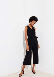 LOFT Cropped Wrap Jumpsuit