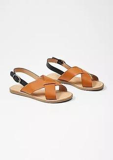 LOFT Cross Strap Flat Sandals