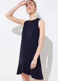 LOFT Crossover Flounce Dress