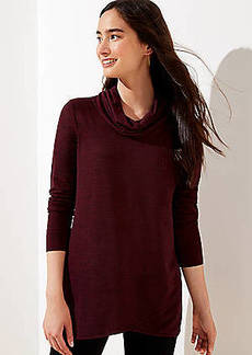 LOFT Crossover Hem Cowl Neck Top