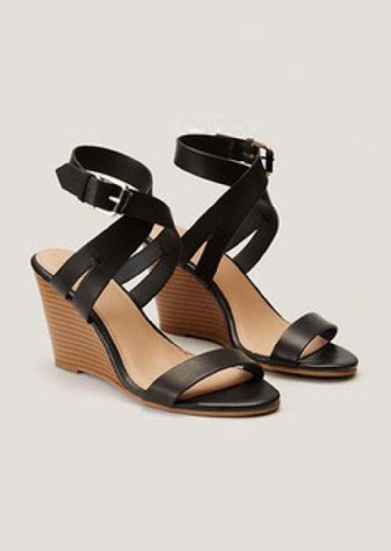 LOFT Crossover Wedge Sandals
