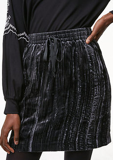 Crushed Velvet Drawstring Skirt