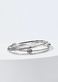 LOFT Crystal Bangle Set