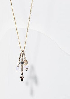 LOFT Crystal Bar Pendant Necklace