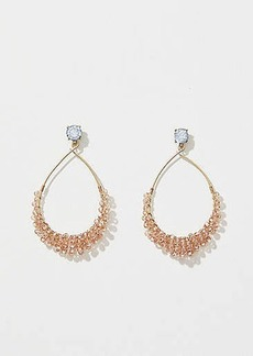 LOFT Crystal Beaded Drop Earrings