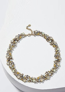 LOFT Crystal Cluster Statement Necklace