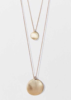 LOFT Disc Pendant Necklace Set