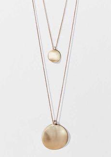 LOFT Disc Pendant Necklace Set