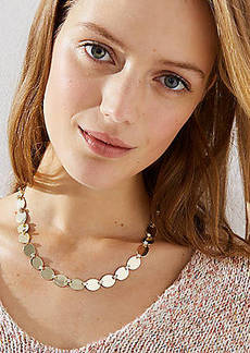 LOFT Crystal Disc Necklace