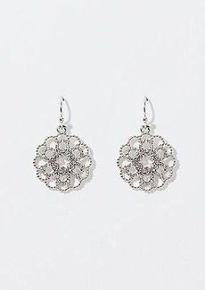 LOFT Crystal Filigree Earrings