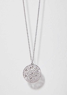 LOFT Crystal Filigree Pendant Necklace
