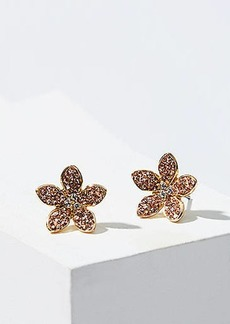 LOFT Crystal Flower Stud Earrings